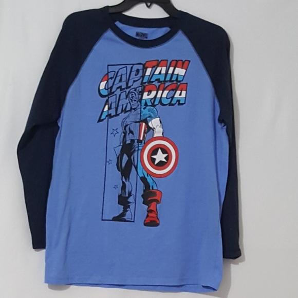 Capital America Long Sleeve Graphic Tee Shirt